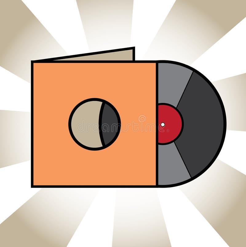 Einfache Vinyldiskettenillustration mit Fall vektor abbildung