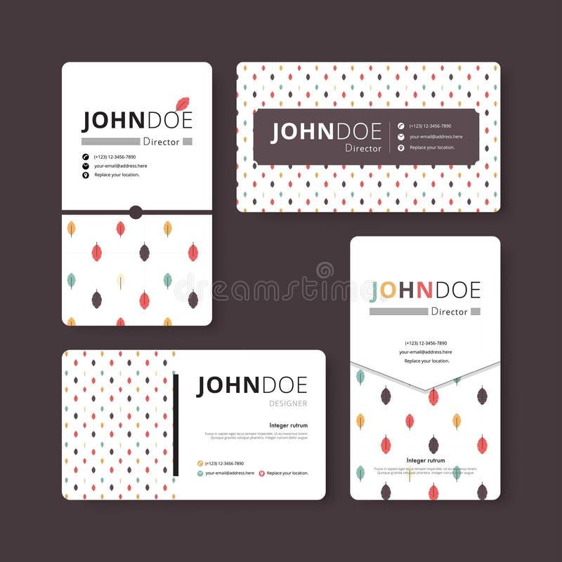 Einfache Visitenkarteschablone Abdeckung, Flieger, Broschürenschablone lizenzfreie abbildung