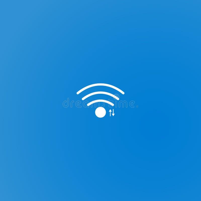 Einfache weiße wifi Ikone stock abbildung