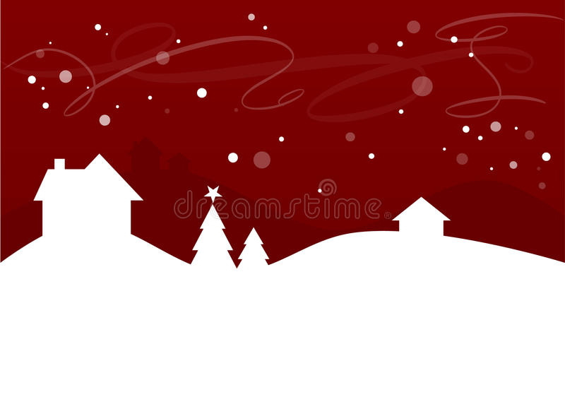 Einfache Winter-/Weihnachtslandschaft vektor abbildung