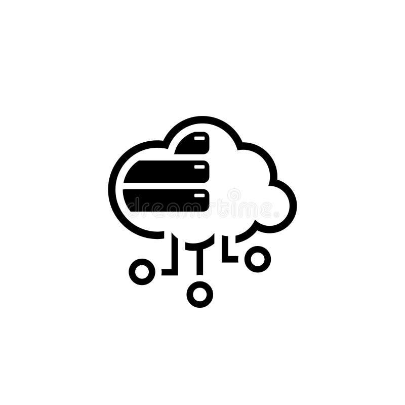 Einfache Wolken-Datenbank-Vektor-Ikone stock abbildung