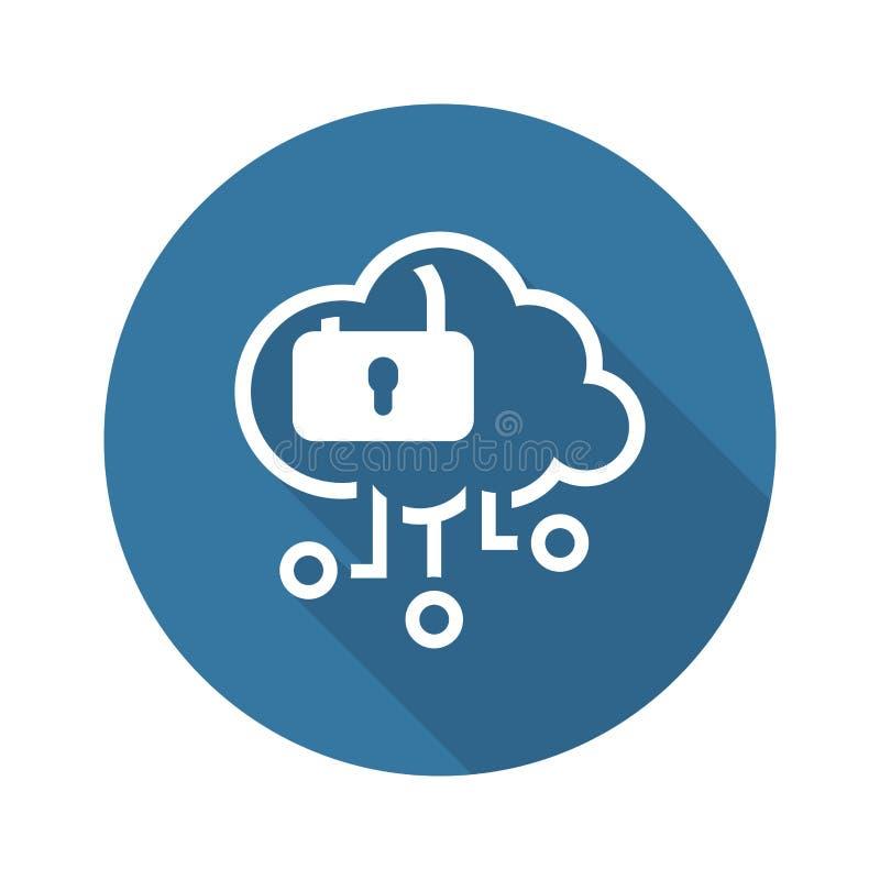 Einfache Wolken-Sicherheits-Vektor-Ikone lizenzfreie abbildung