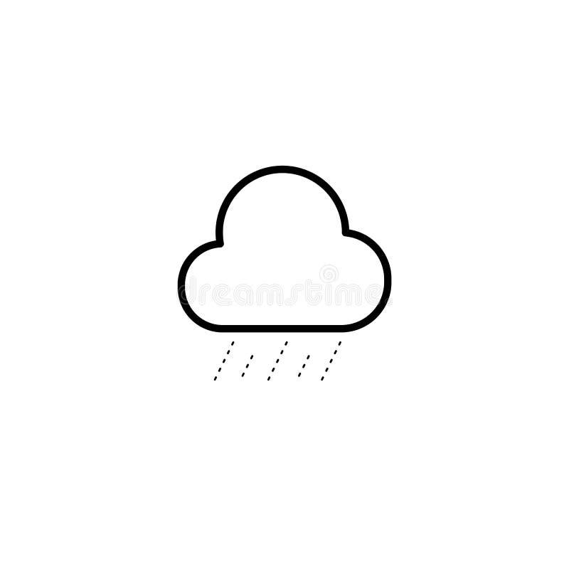 Einfache Wolken- und Nieselregenikone vektor abbildung
