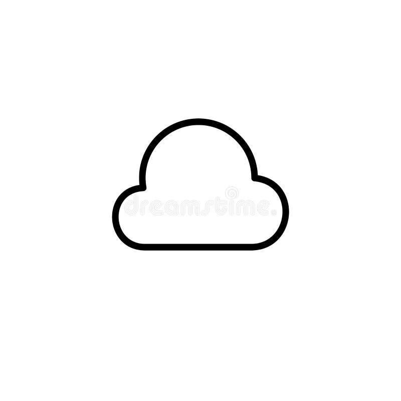 Einfache Wolkenlinie Ikone vektor abbildung