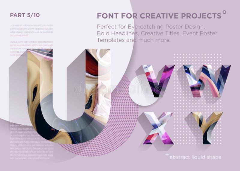 Einfacher abstrakter geometrischer Guss Vervollkommnen Sie für mutige Schlagzeilen, Plakat-Entwürfe, kreative Titel, Ereignis-Pla stock abbildung