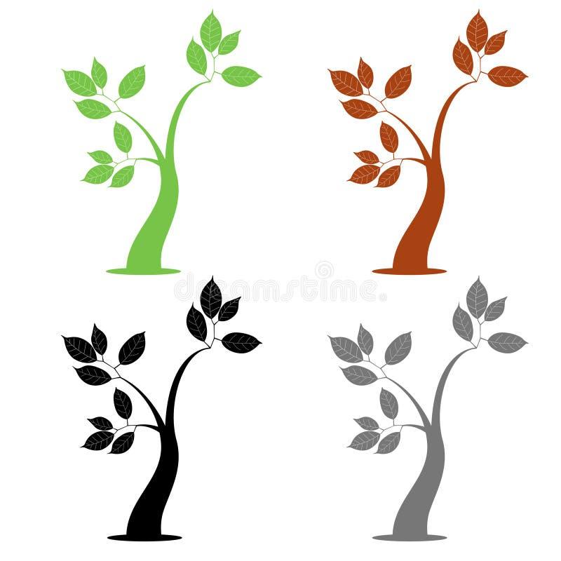 Einfacher Baum vier lizenzfreie abbildung