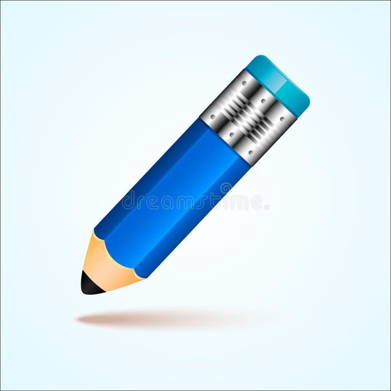 Einfacher Bleistift mit Radiergummi stockfotografie