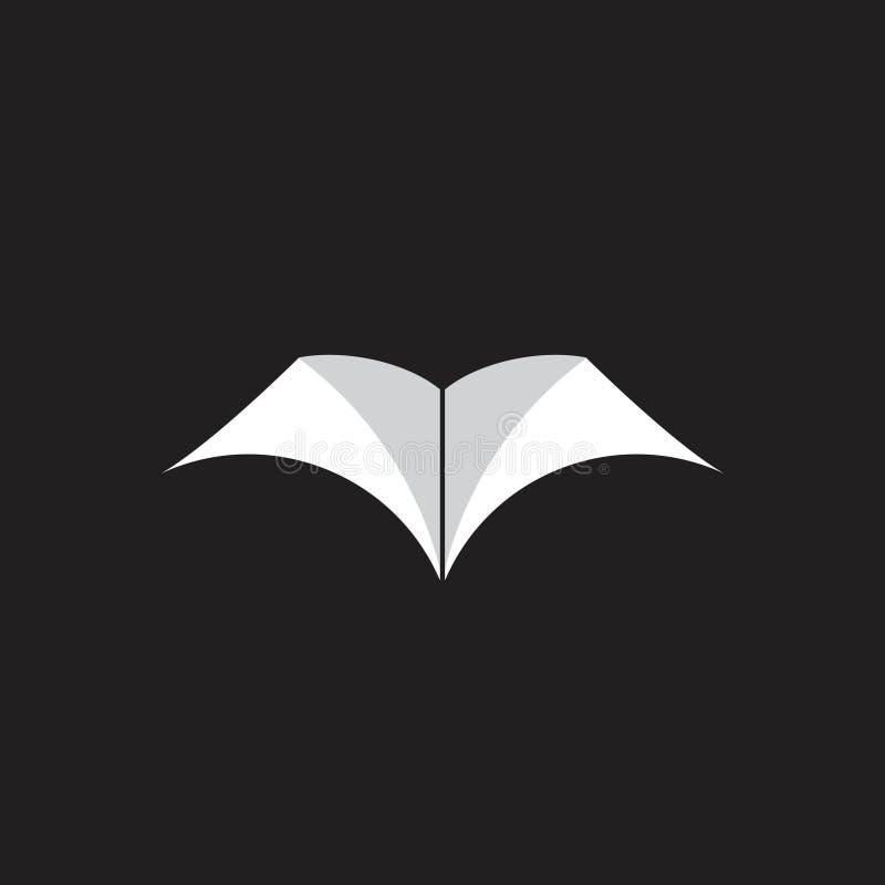 Einfacher Buchschattenausbildungs-Logovektor vektor abbildung