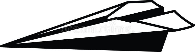 Einfacher flacher resizable editable Papiervektor der Ikone völlig in der schwarzen Farbe stock abbildung