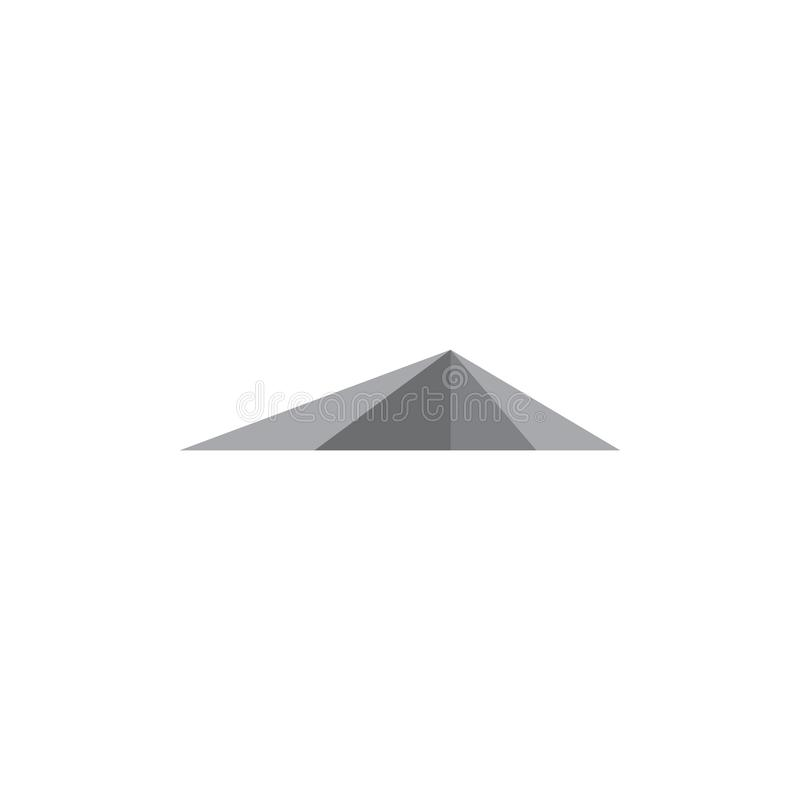 Einfacher geometrischer Entwurfs-Logovektor der Pyramide 3d vektor abbildung