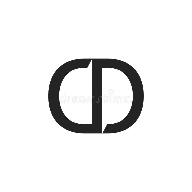Einfacher Logo CD-Vektorentwurf stock abbildung