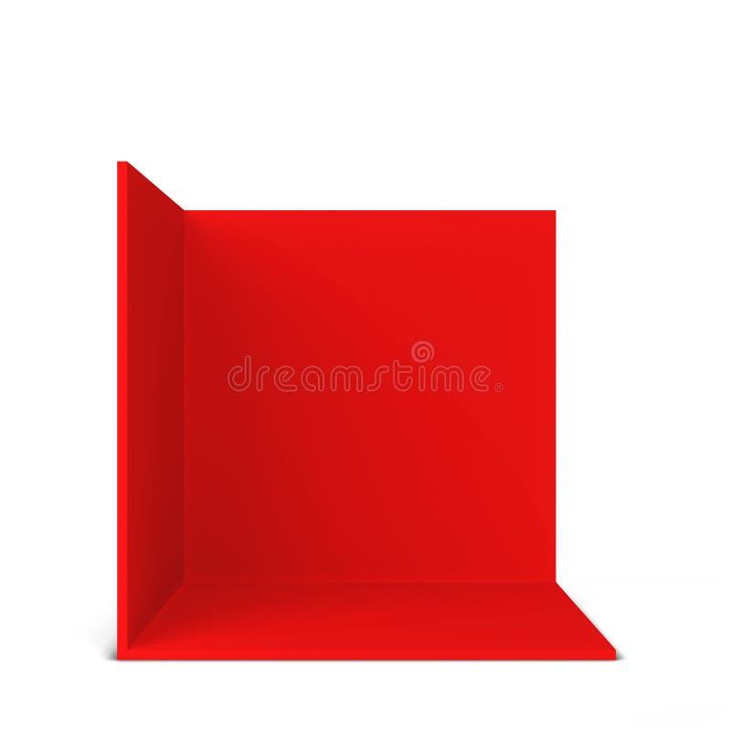 Einfacher Messenstand Quadratische Ecke stock abbildung