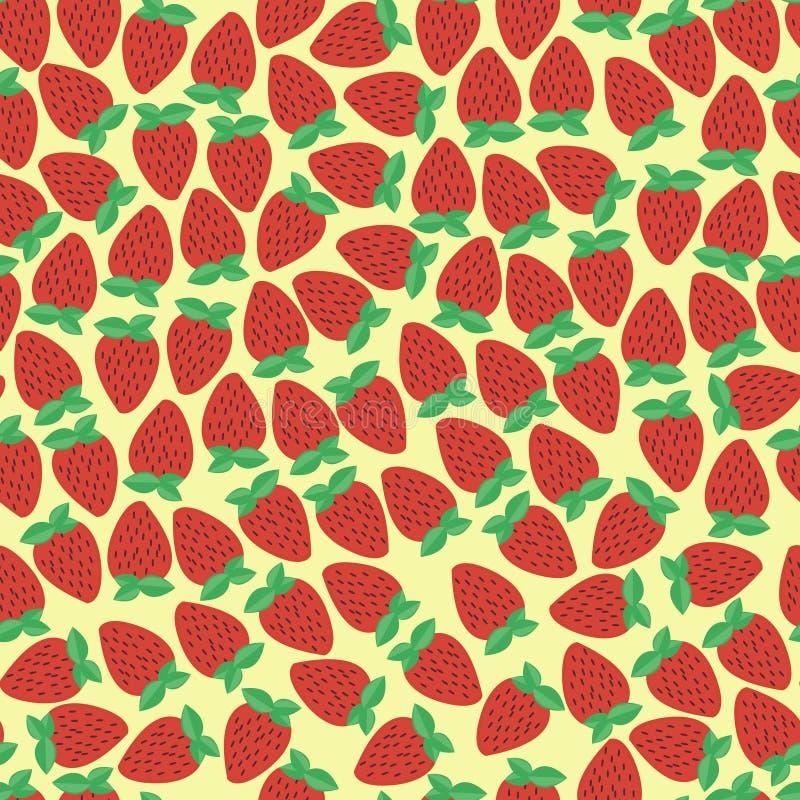 Einfacher nahtloser Erdbeerhintergrund stockbilder