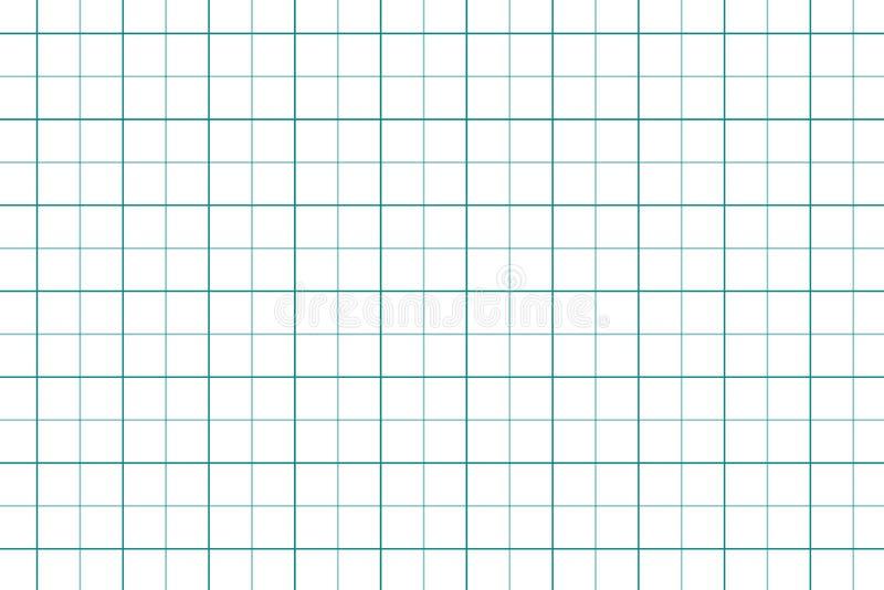 Einfacher nahtloser Hintergrund des Zeichenpapiers mit Maßeinteilung Abstrakter Planpapier-Illustrationsentwurf vektor abbildung
