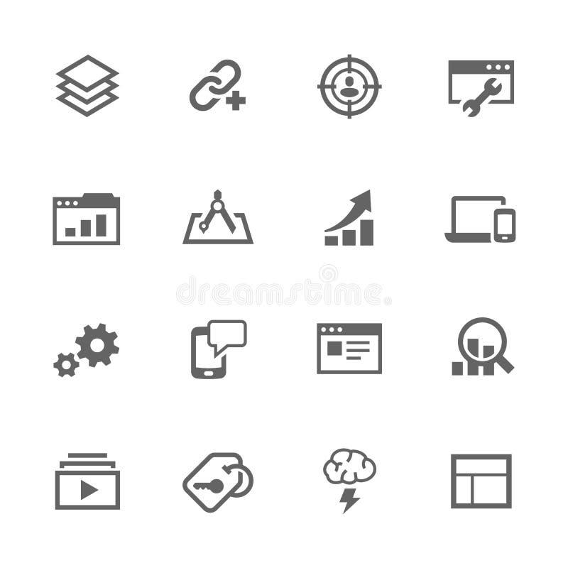 Einfacher SEO Icons vektor abbildung