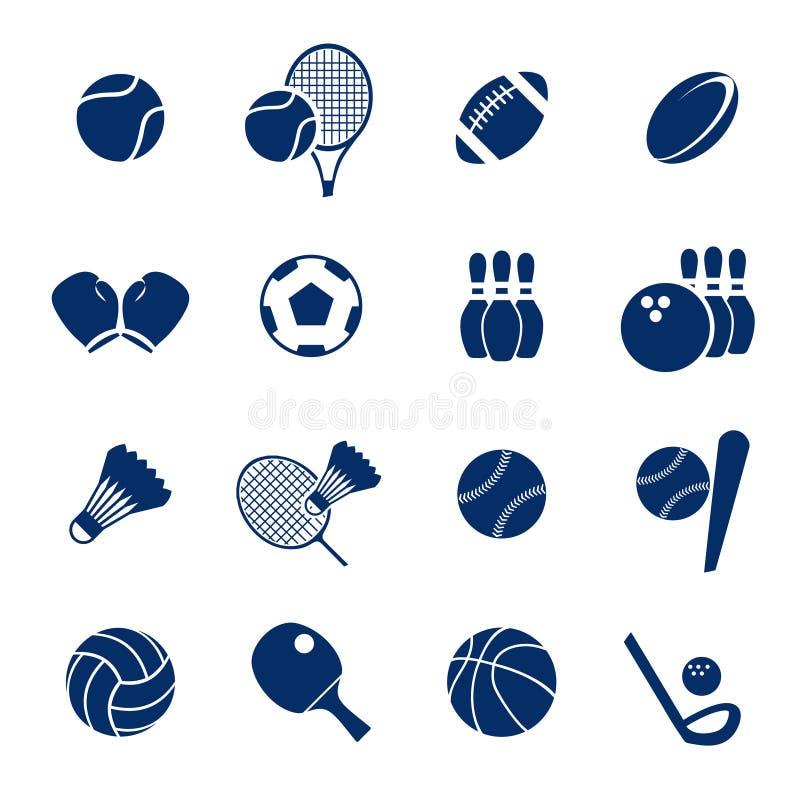 Einfacher Sport-Einzelteil-Ausrüstungs-Sammlungs-Paket-Satz lizenzfreie abbildung