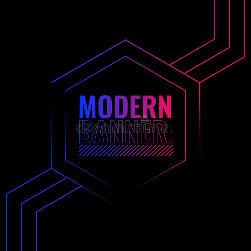 Einfacher u. eleganter moderner Hintergrund stock abbildung