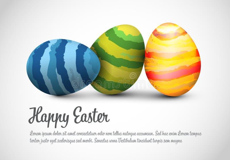Einfacher Vektor glückliche Ostern-Kartenschablone lizenzfreie abbildung