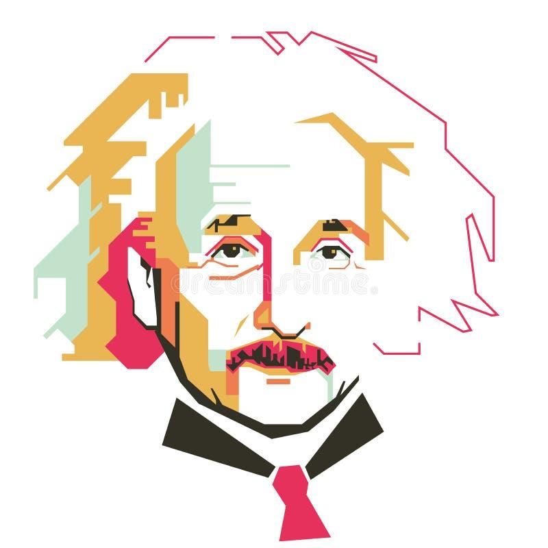 Einfacher Vektorcharakter Albert Einsteins lizenzfreie abbildung