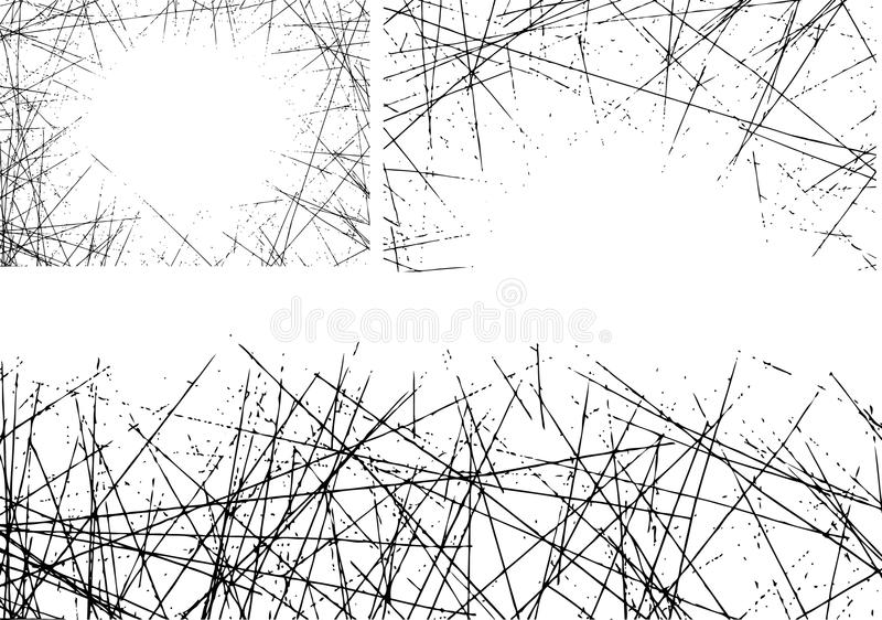 Einfacher vektorkratzer stockfotografie