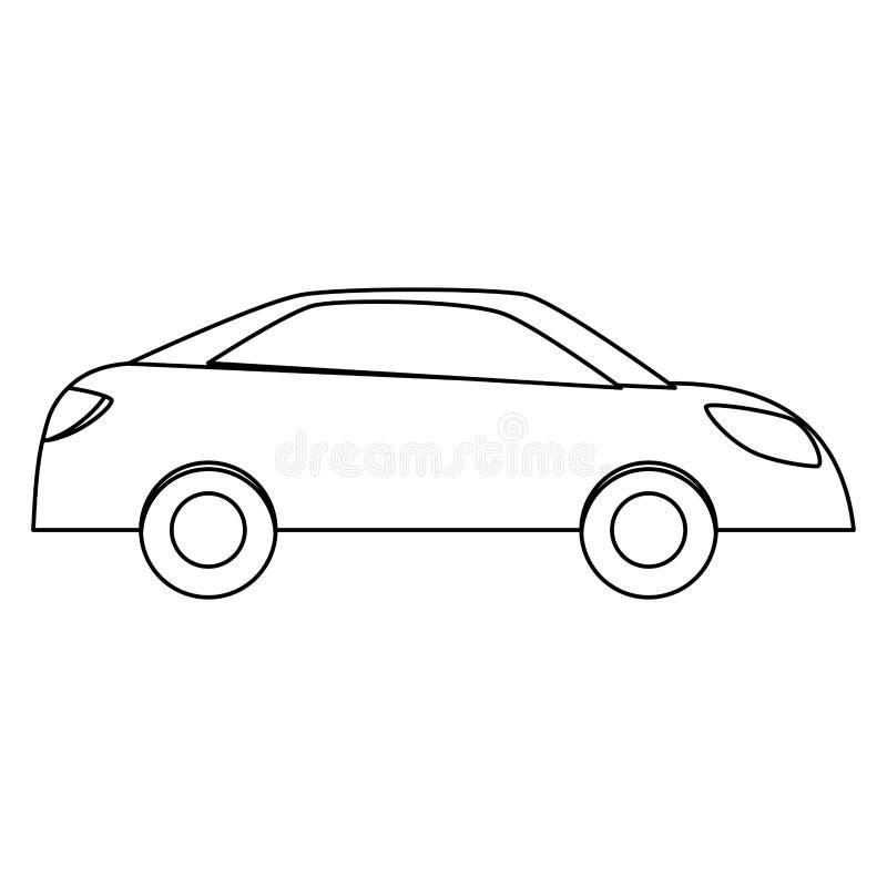 Einfaches Auto Sideview Ikonenbild Stock Abbildung - Illustration ...