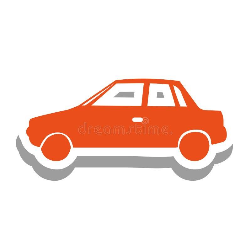 Einfaches Autopiktogramm-Ikonenbild Vektor Abbildung - Illustration ...