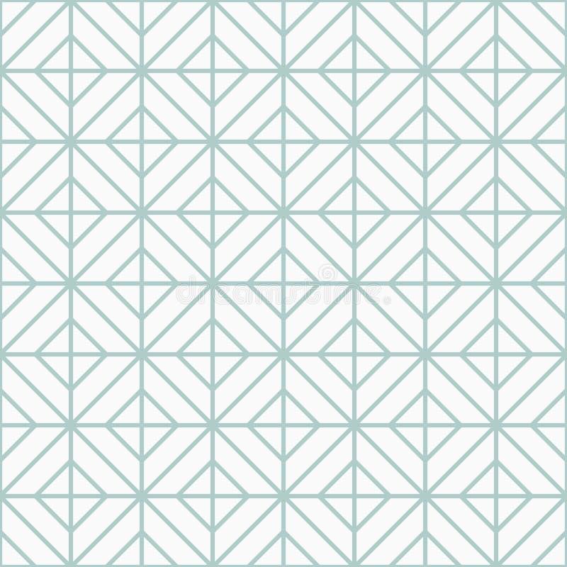 Einfaches Bodenfliesemuster, abstrakter geometrischer nahtloser Hintergrund Portugiesische Keramikfliesen vektor abbildung
