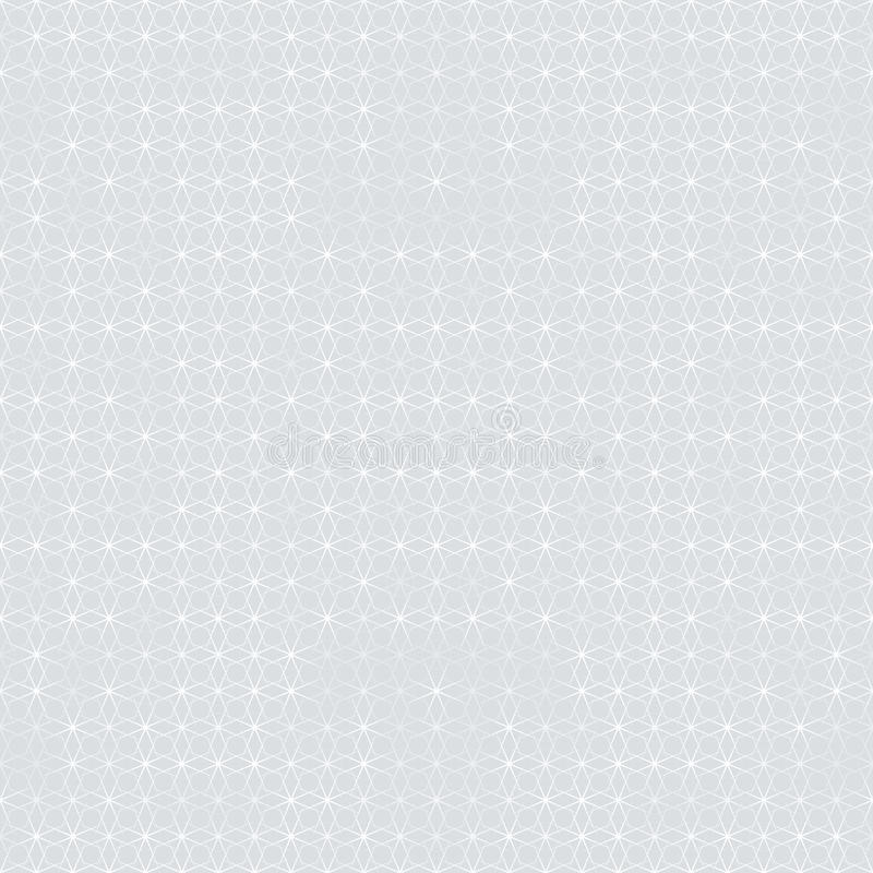 Einfaches, elegantes Muster, graue geometrische Formen stock abbildung