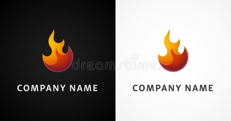 Einfaches Feuer-Logo stock abbildung