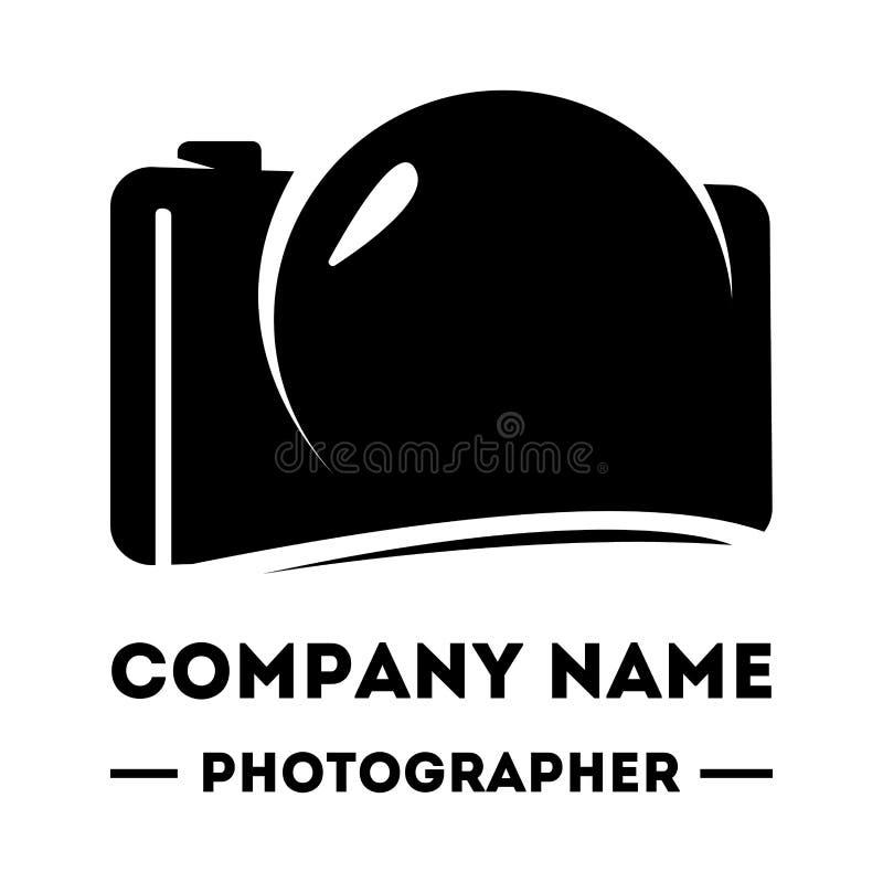 Einfaches Firmenzeichen für einen Fotografen Abstraktes Kameralogo Kameraikonen-Designschattenbild im Vektorformat stock abbildung
