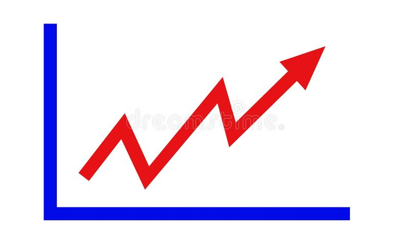 Einfaches Fortschrittsdiagramm stockfotos