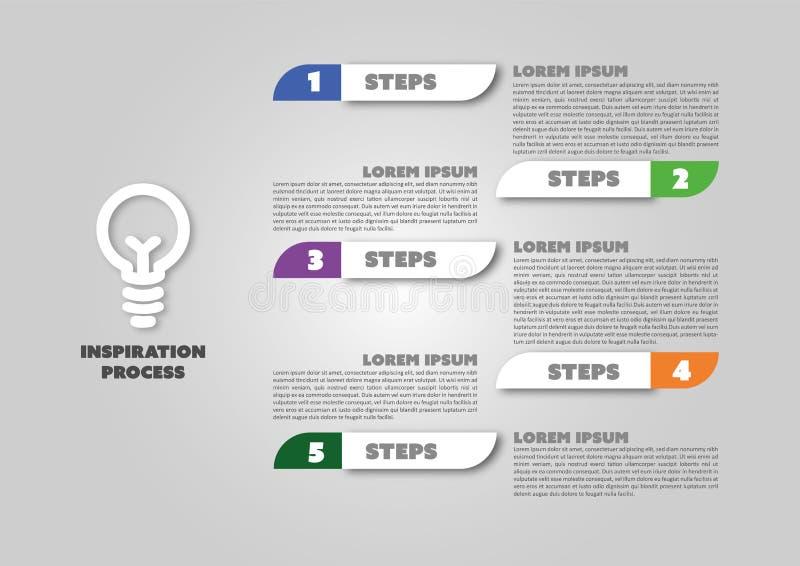 Einfaches geändertes infographic Design des Geschäfts stock abbildung