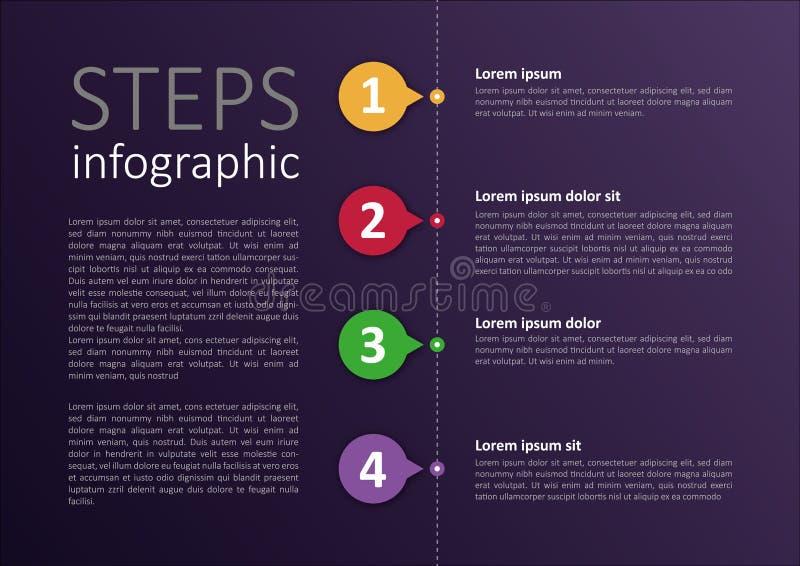 Einfaches geändertes infographic Schrittdesign lizenzfreie abbildung