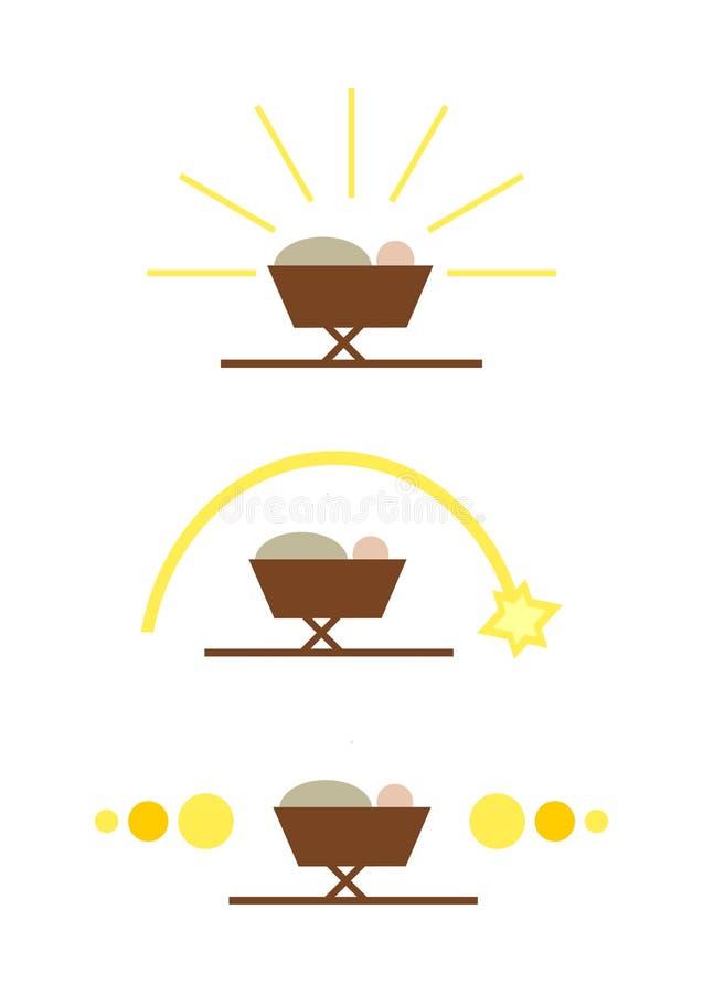Einfaches Geburt Christisymbol (stellen Sie) ein lizenzfreie abbildung