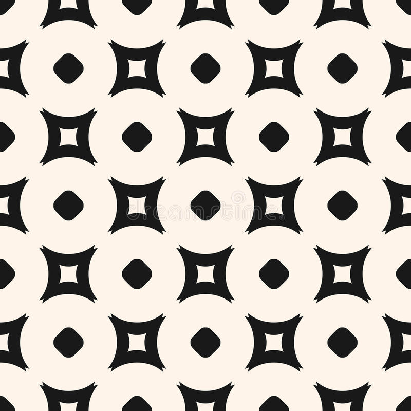 Einfaches geometrisches nahtloses Muster, unbedeutendes Monochrom des Vektors lizenzfreie abbildung
