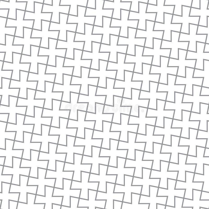 Einfaches geometrisches vektormuster - graue Kreuze lizenzfreie abbildung