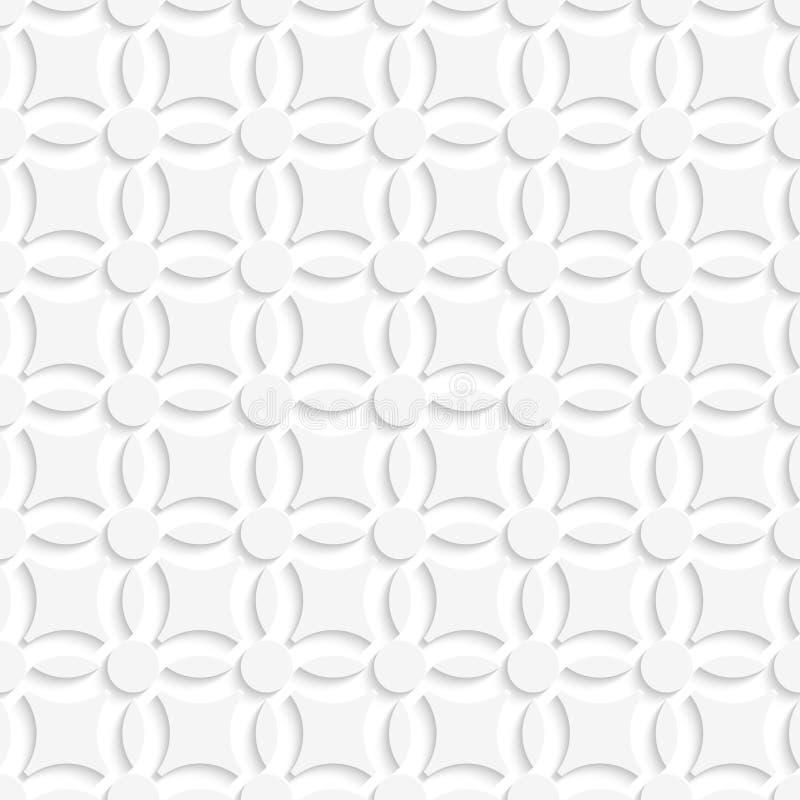 Einfaches geometrisches weißes nahtloses vektor abbildung