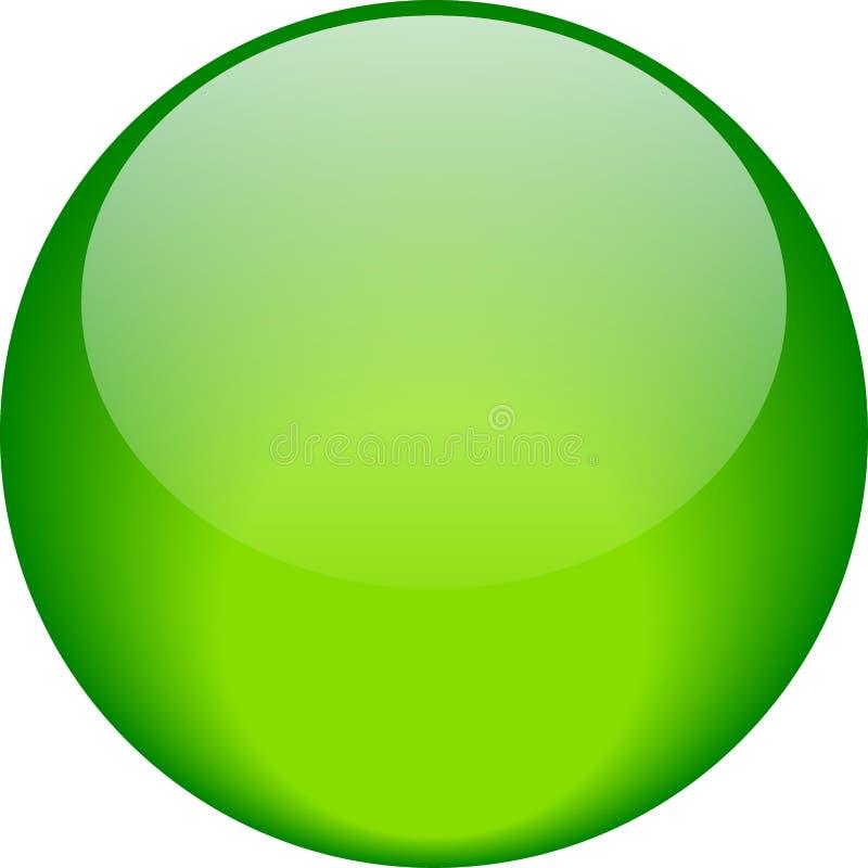 Einfaches Grün des Netzknopfes stock abbildung