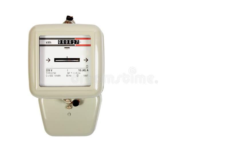 Strommeter lokalisiert auf Weiß stockbilder