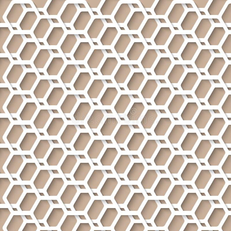 Einfaches Hexen-Muster mit realistischem Schatten für Ihre Hintergründe, P stock abbildung