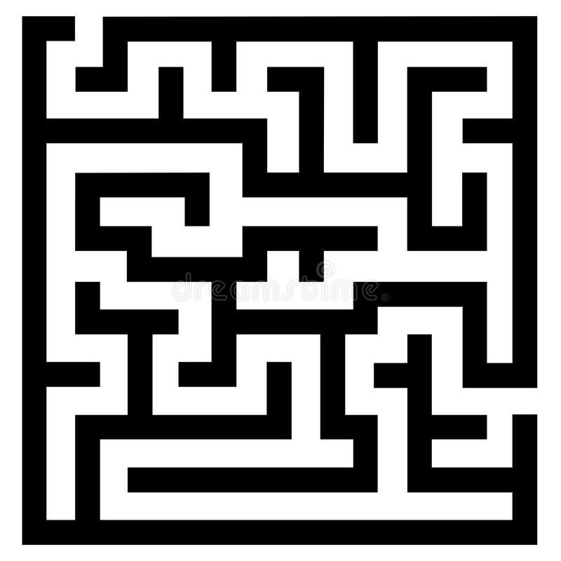 Einfaches Labyrinth stock abbildung