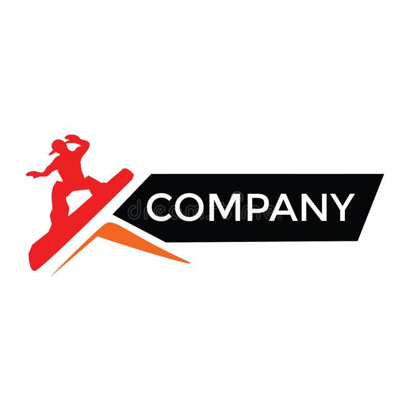 Einfaches modernes flaches Logo für extremen Sport lizenzfreie stockfotografie