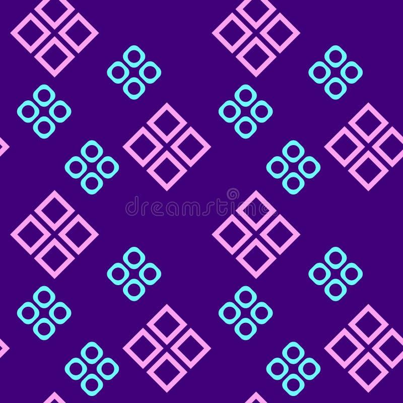 Einfaches, nahtloses/der Wiederholung geometrisches Muster/Beschaffenheit Hellblau, hellrosa auf Purpur vektor abbildung