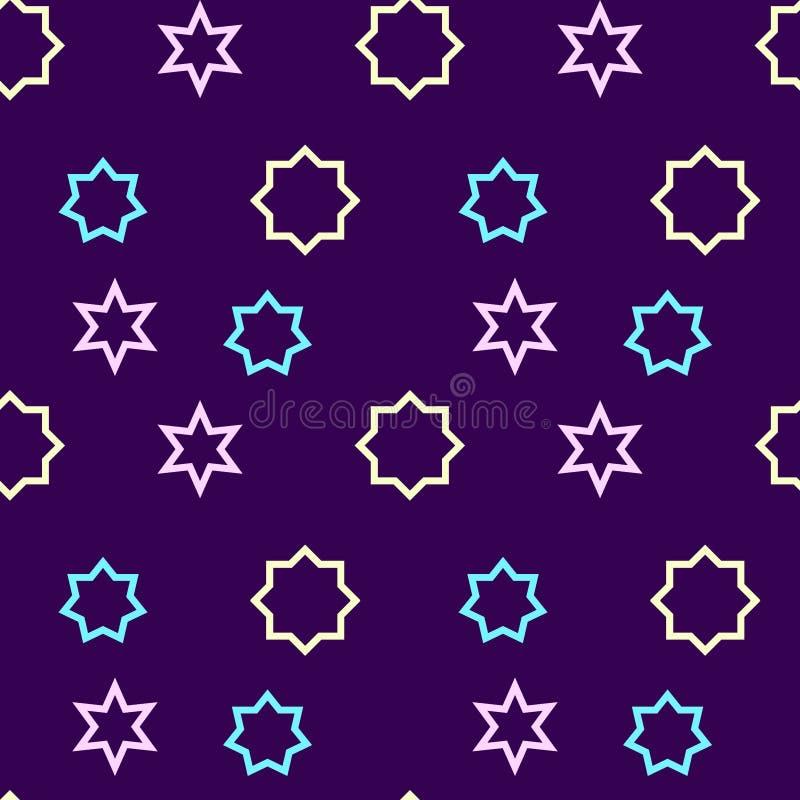 Einfaches, nahtloses/der Wiederholung geometrisches Muster/Beschaffenheit Rosa, gelbe und purpurrote Farben stock abbildung
