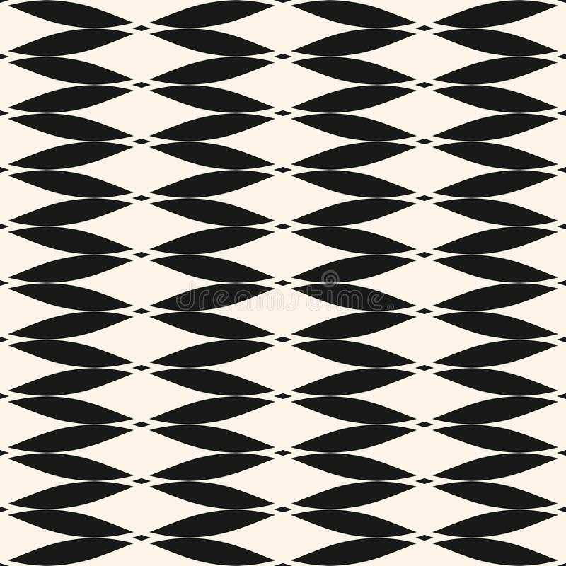Einfaches nahtloses Muster des geometrischen Designs für Dekor, Gewebe, Gewebe, Möbel, Drucke, Tapete stock abbildung