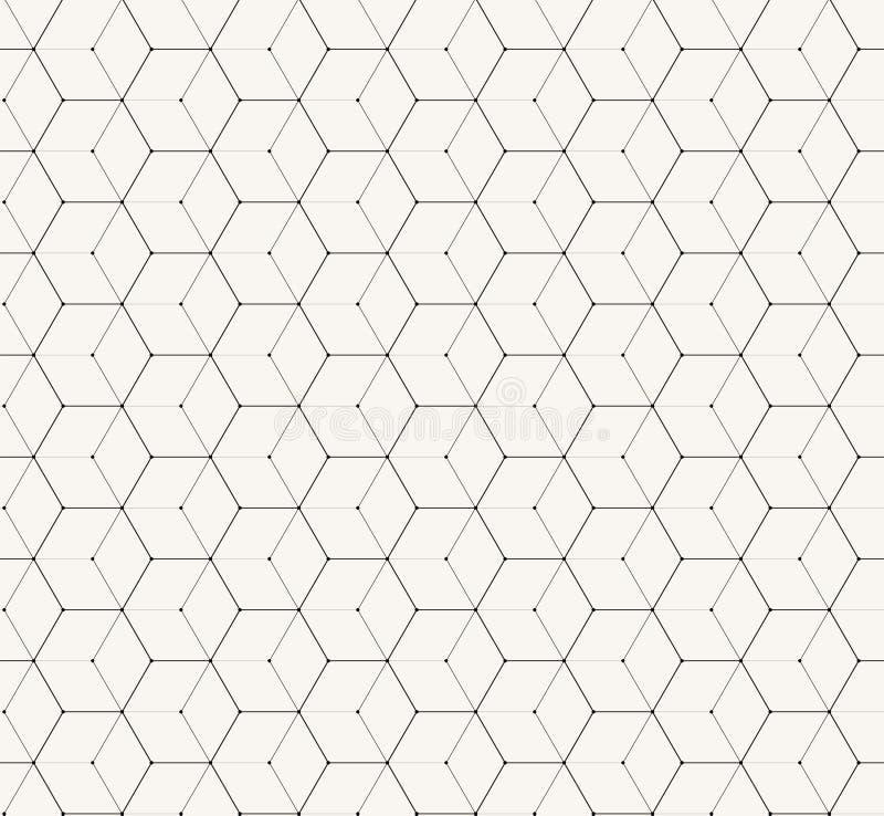 Einfaches nahtloses Muster des grauen Vektors der Hexagone lizenzfreie abbildung