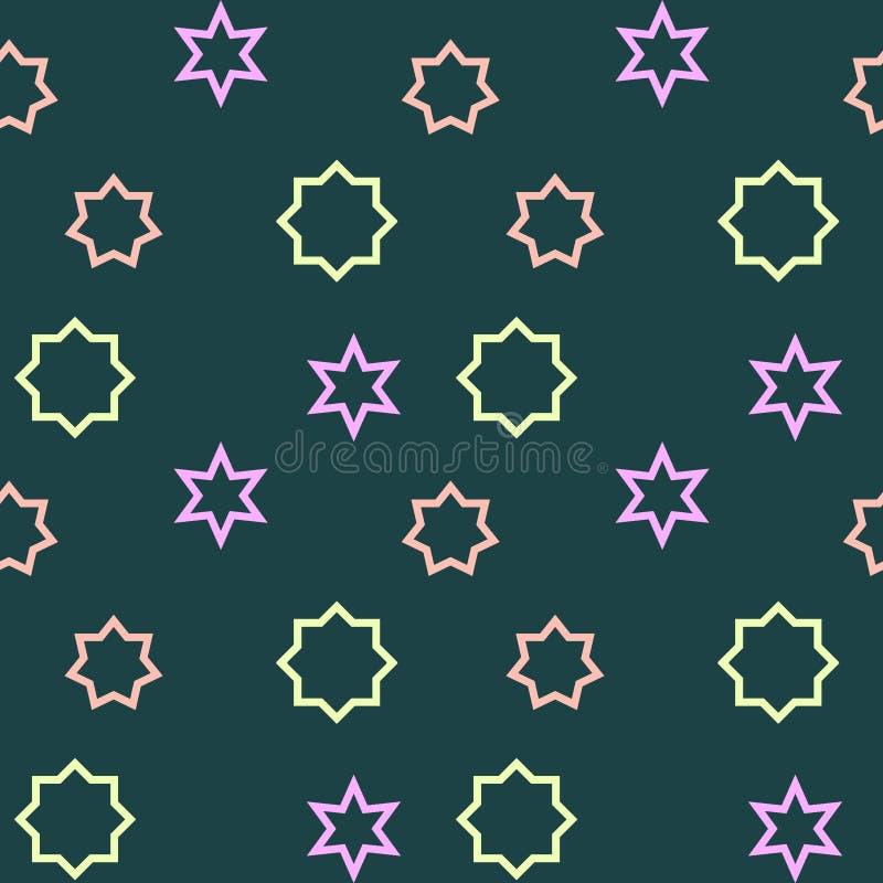 Einfaches, nahtloses/Wiederholungsmemphis-Muster Disaturated-Farben stock abbildung
