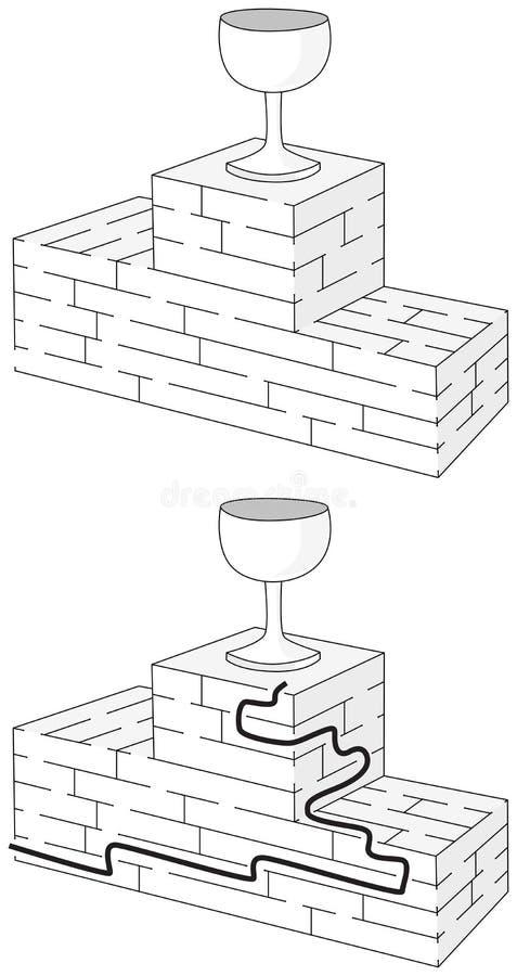 Einfaches Preispodiumlabyrinth stock abbildung