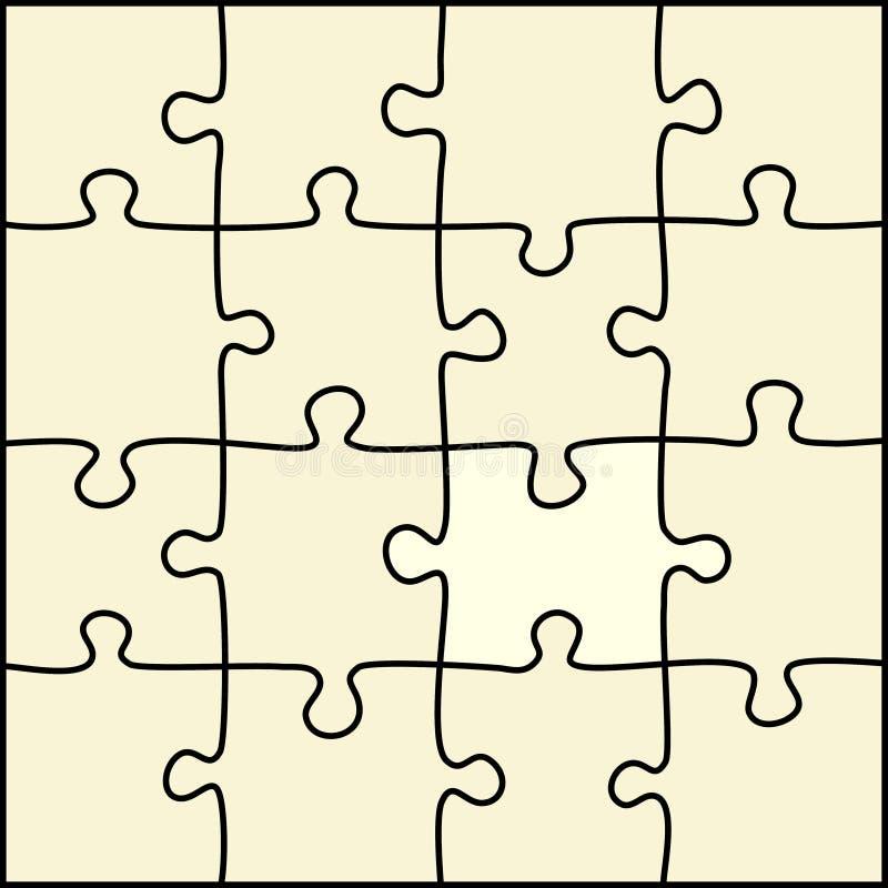 Einfaches Puzzlespiel lizenzfreie abbildung