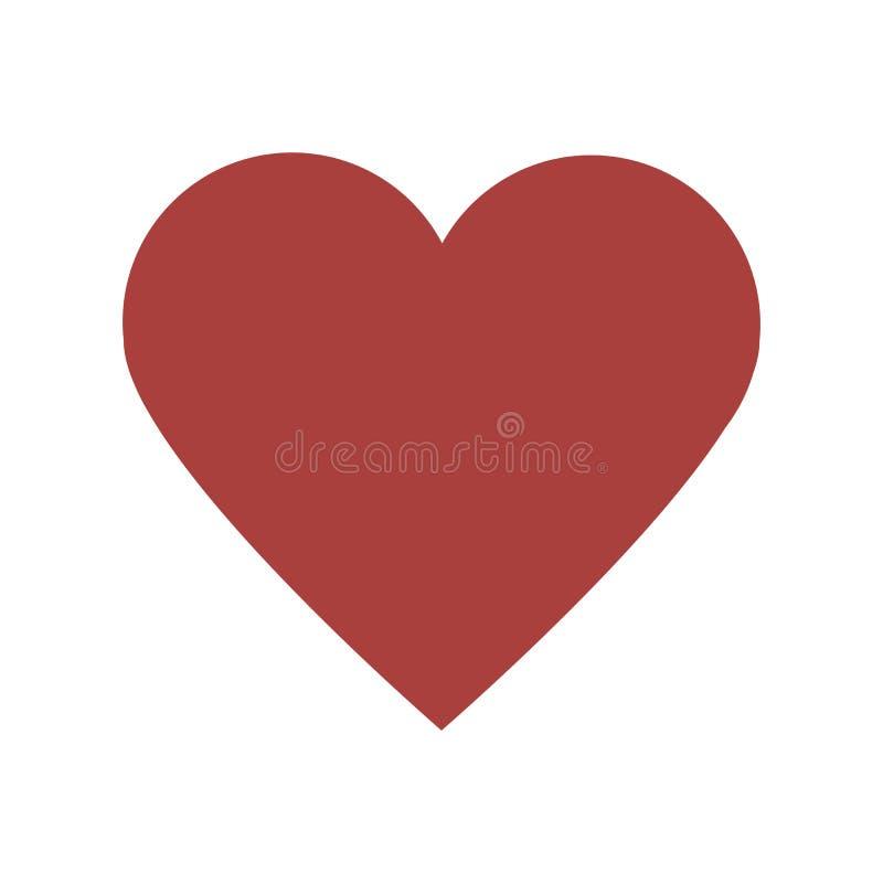 Einfaches rotes Herz vektor abbildung